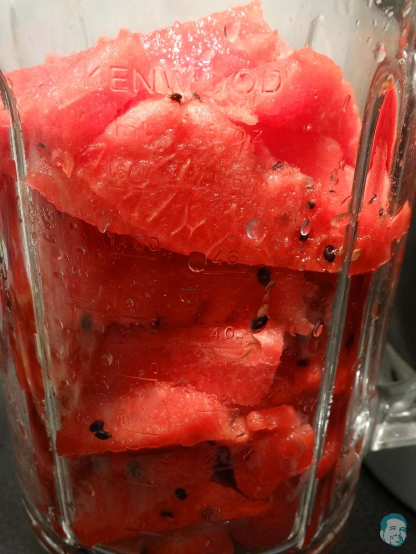 Obst im Mixer