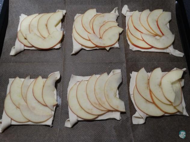 Äpfel auflegen