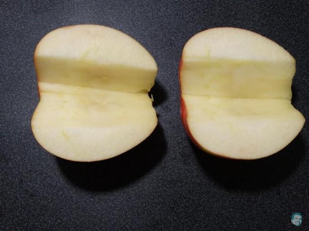 Apfel putzen