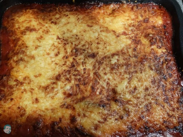 Melanzani Lasagne fertig