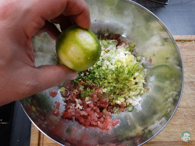 Thunfisch Tatar Limette