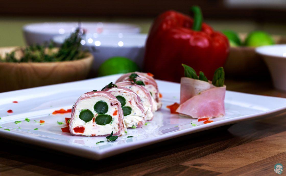Spargel-Schinken-Sushi