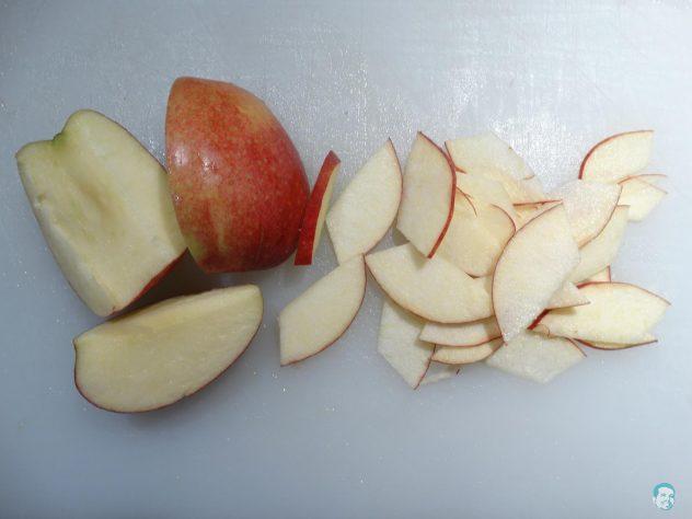 Apfel-geschnitten