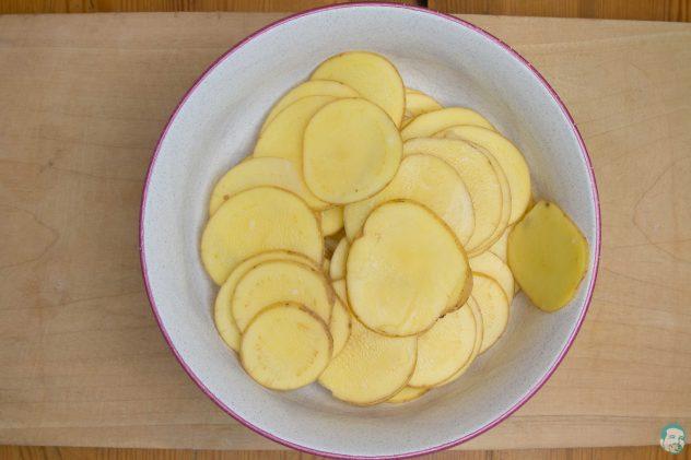 Kartoffeln duenn geschnitten