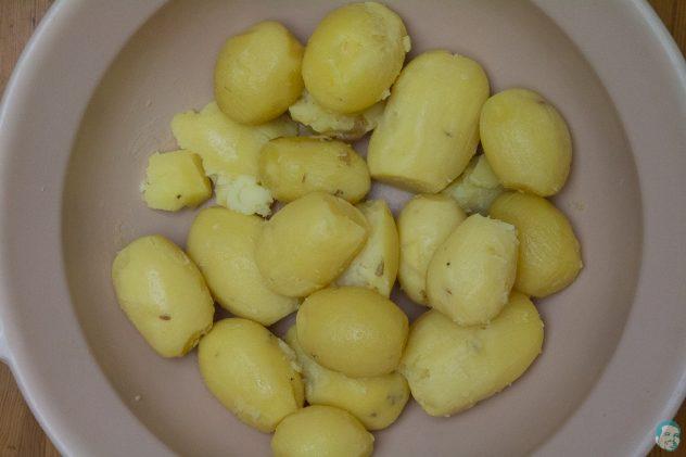 Pikante afrikanische Schupfnudeln Karoffeln fertig gekocht