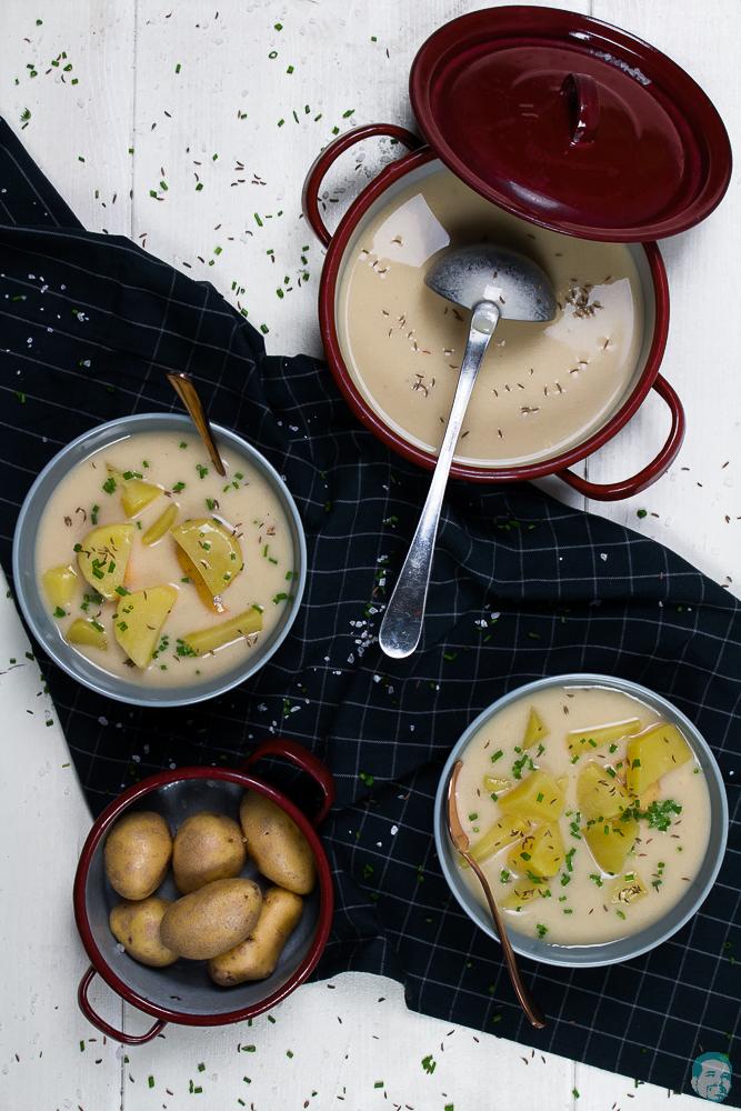 Rahmsuppe mit Kartoffeln
