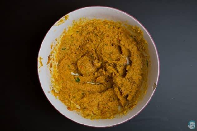 Kürbis-Hummus-fertig