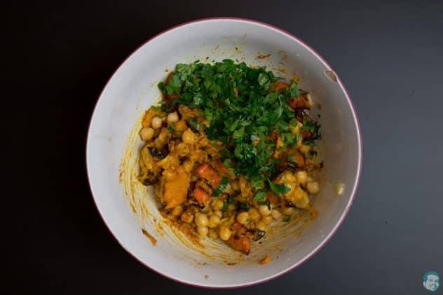 Kürbis-Hummus-gemixt